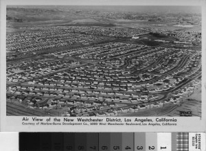 Old aerial picture Westchester CA