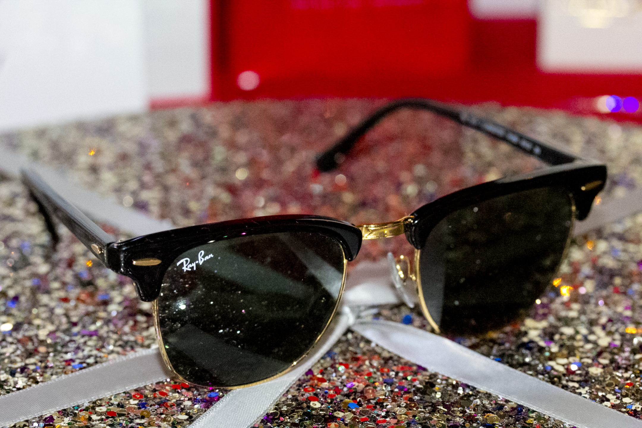 Ray Ban black clubmaster sunglasses favorite gift guide for the holidays