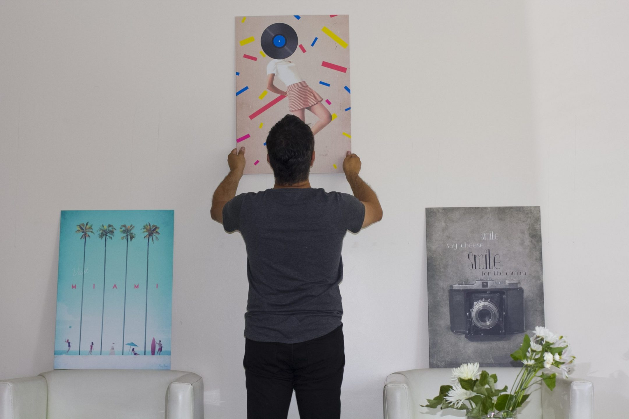 deciding where to place the displate wall art