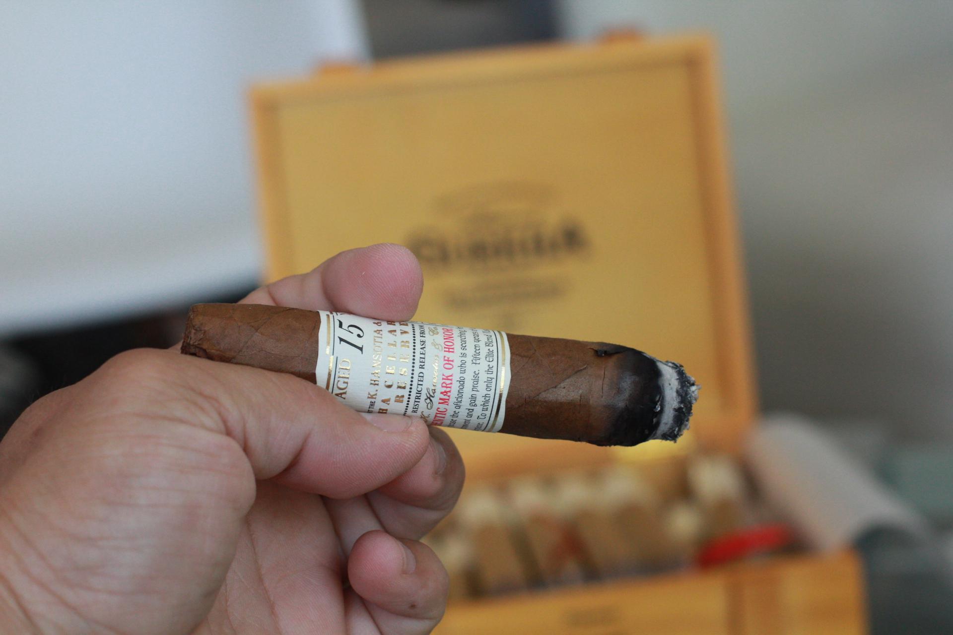 Lighting a Gurkha Cigar