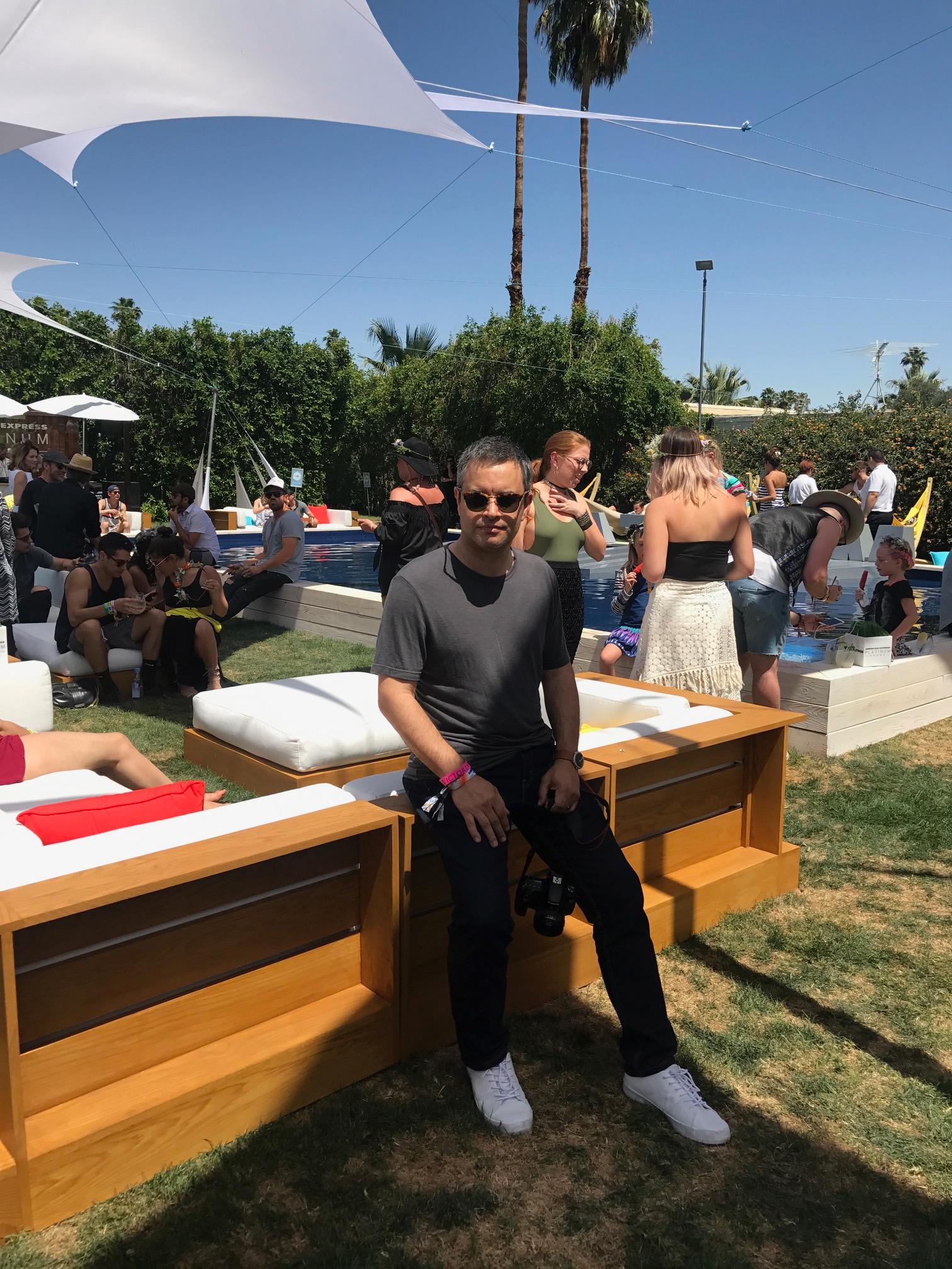 Amex Platinum House Coachella blogger