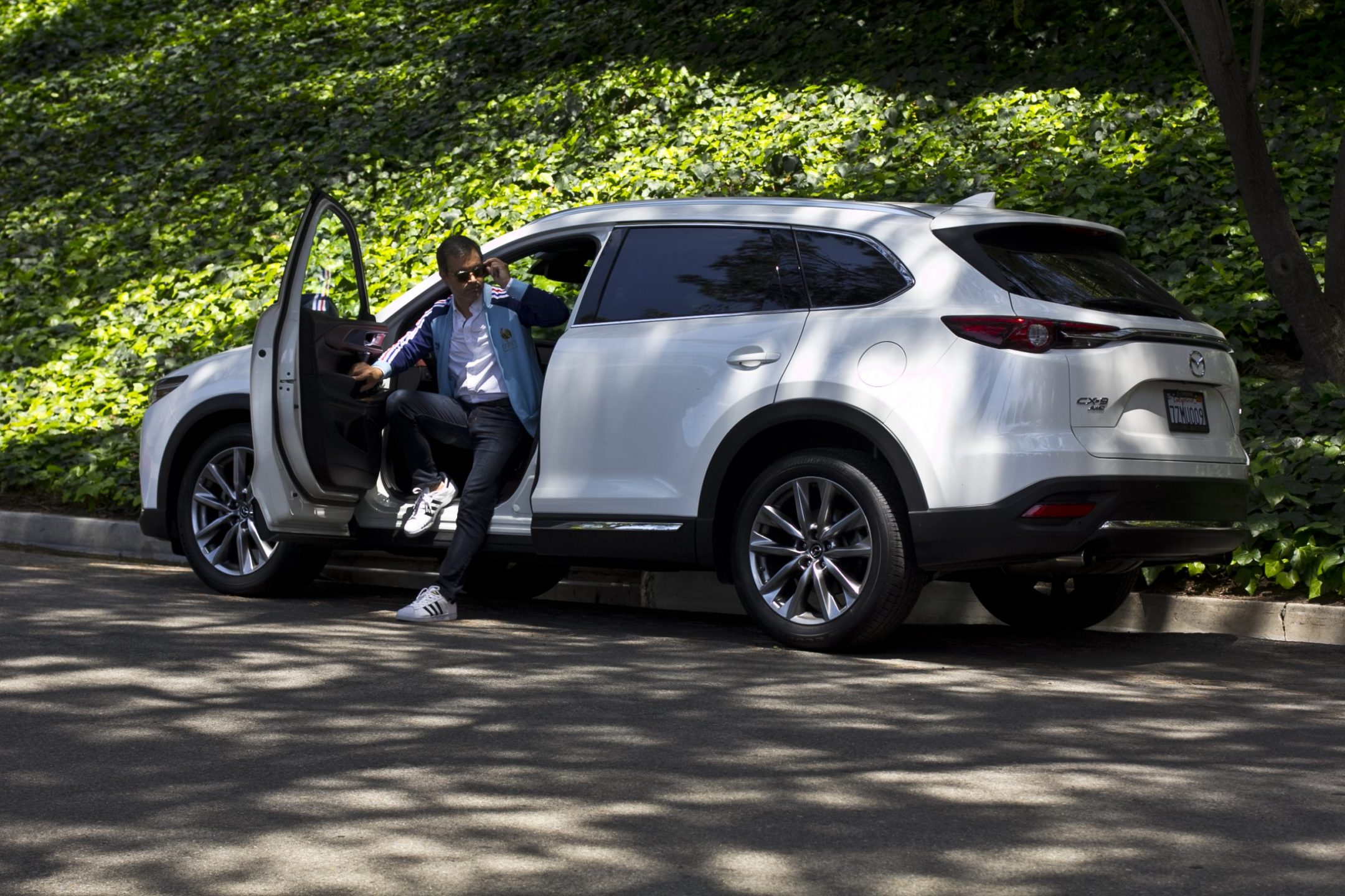 Out about town in a new 2018 Mazda CX-9 Signature SUV