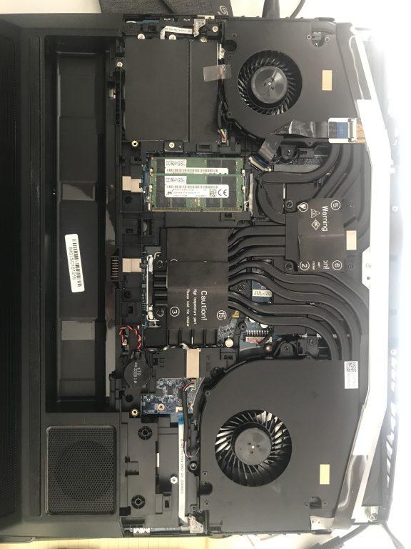 Clevo X170SM-g inside