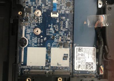 Clevo X170SM-g inside storage SSD